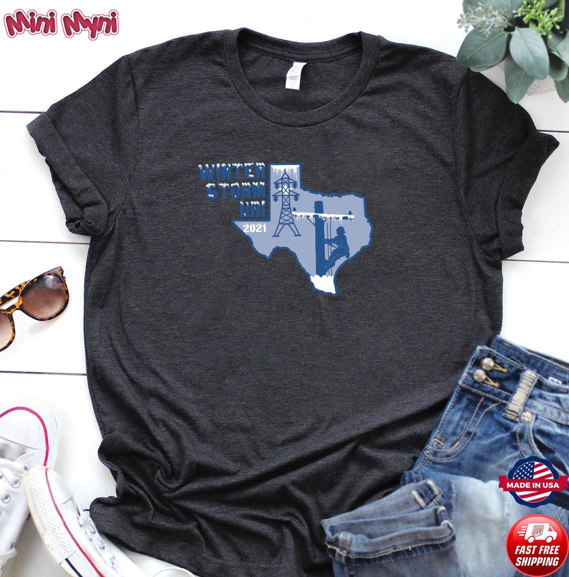 Official Winter Storm Uri 2021 Texas Strong Shirt