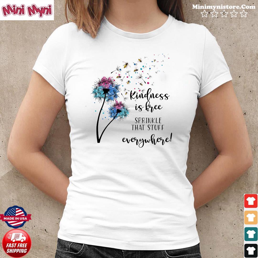 Kindness Is Free  Sprinkle Kindness Short Sleeve Tshirt