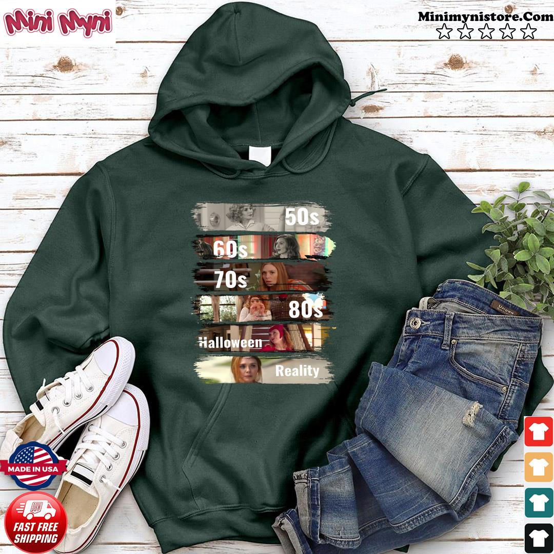 Official 50s 60s 70s 80s Halloween Reality Shirt Hoodie