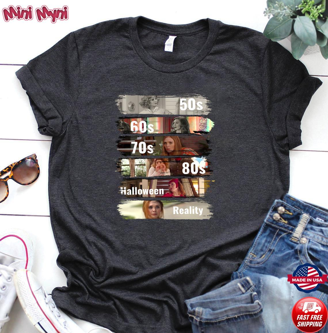 Official 50s 60s 70s 80s Halloween Reality Shirt