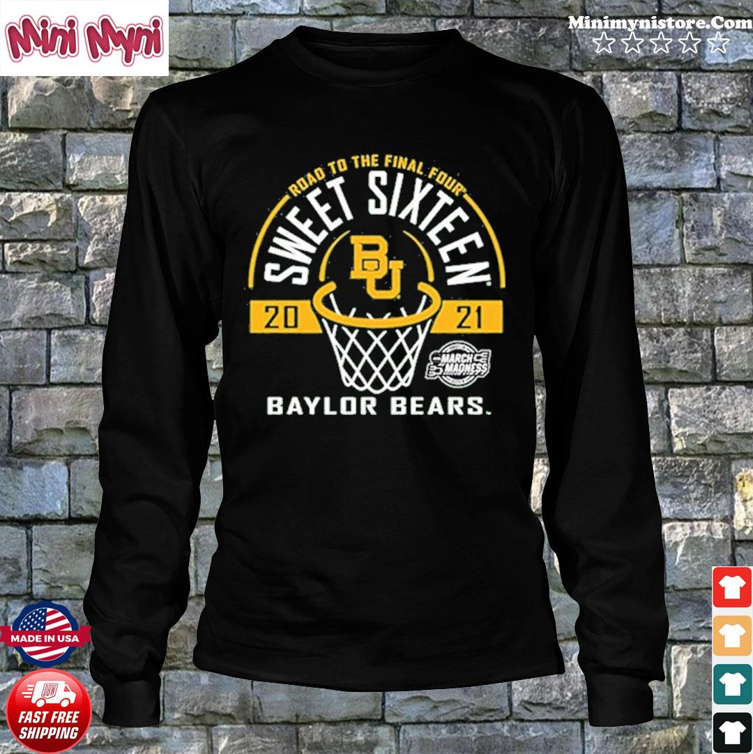 Baylor Bears Green Road To The Final Four 2021 Sweet Sixteen Shirt Long Sweater