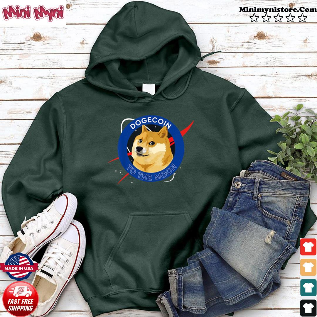 Official Dogecoin To The Moon Funny Crypto Meme Shirt Hoodie